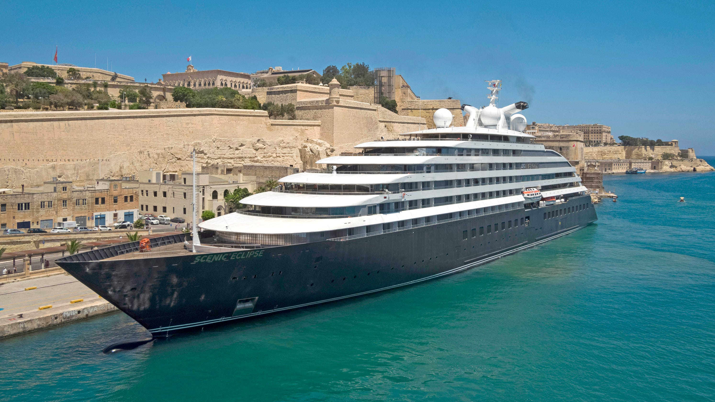 Image result for Cruise ship tours: Take a look inside the Scenic Eclipse, featuring a submarine and helicopters