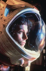"Sigourney Weaver in a scene from ""Alien."""