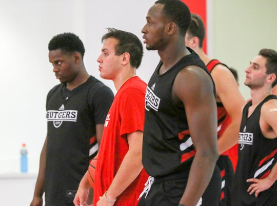 Montez Mathis (left) and Mamadou Doucoure (right) are key guys for Rutgers this season.