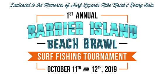 A flyer for the Barrier Island Beach Brawl surf fishing contest.