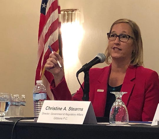 Christine Stearns, a health care expert at Gibbons P.C., discusses the state of the industry at a conference in Edison sponsored by the New Jersey Association of Health Underwriters.
