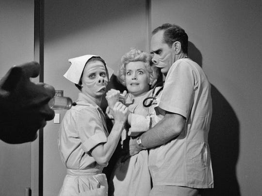 "A scene from the classic ""Twilight Zone"" episode ""The Eye of the Beholder,"" one of six classic episodes set to play cinemas through Fathom Events on Nov. 14."