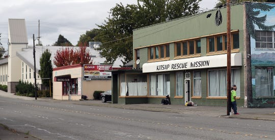 The Kitsap Rescue Mission and Salvation Army (far left) on Sixth Street in Bremerton.