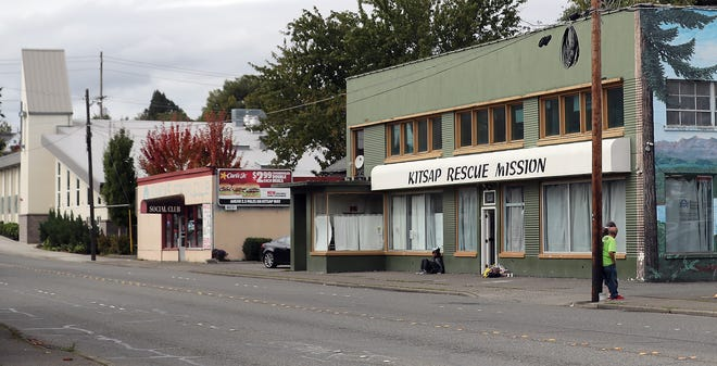 The Kitsap Rescue Mission and Salvation Army (far left) on 6th Street in Bremerton on Thursday, Sept. 26, 2019.