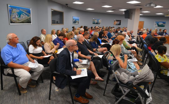 A large crowd turned out for Wednesday's annual meeting of the Brevard County delegation to the Florida Legislature.
