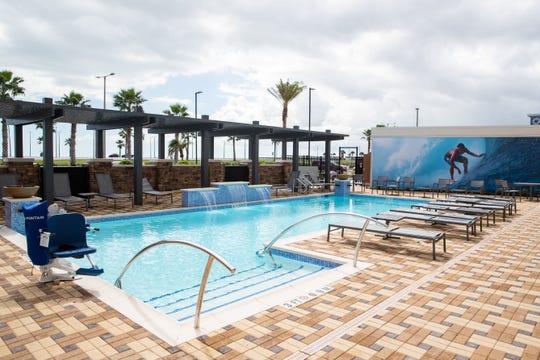 The pool at Residence Inn Corpus Christi Downtown at 301 S. Shoreline Blvd.