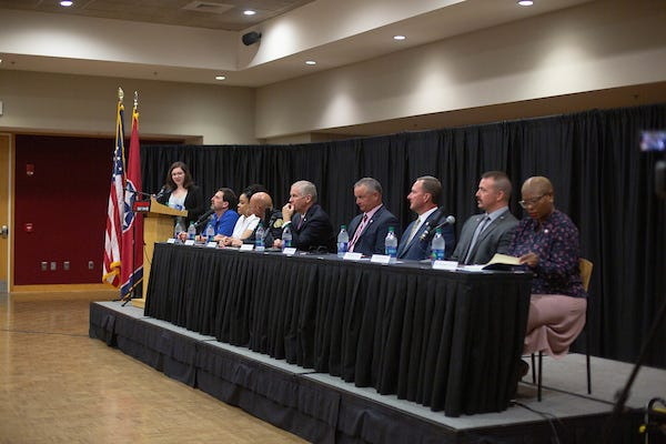 Tarpy joined the community leaders at the College Street restaurant on Sept. 16, after that evening's Poli-Talk – a panel discussion on local politics hosted by APSU's President's Emerging Leaders Program (PELP).