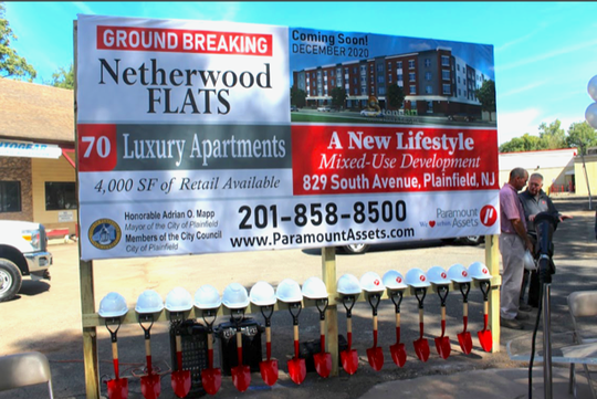 On Sept. 20, Newark-based Paramount Assets broke ground at 829 South Ave., its latest of 50 Plainfield properties. Construction is underway of a four-story 70-unit residential complex that will feature 4,000 square feet of retail on the ground floor. The projects coincides with plans for a two-building multi-use structure at 1008-1014 South Ave. that goes before the zoning board on Oct. 2 and the nearby Quinn at Sleepy, which opens Oct. 3.