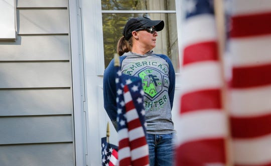 Army National Guard Sgt. 1st Class Jennifer Sherrill was presented with keys to a new home on Thursday, Sept. 26, 2019, in Des Moines. In honor of Sgt. Sherrill's service, the home was renovated and given to her mortgage-free by the Veterans Association of Real Estate Professionals, in partnership with Bank of America.
