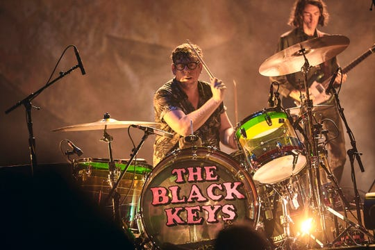 The Black Keys' Patrick Carney at the Wiltern Theatre in Los Angeles on Sept. 19, 2019.