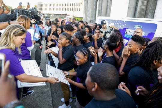 "Ford Motor Company invites the Detroit Youth Choir to rehearse in the iconic Michigan Central Station on Sept. 25, 2019, following its award-winning performance on ""America's Got Talent."""