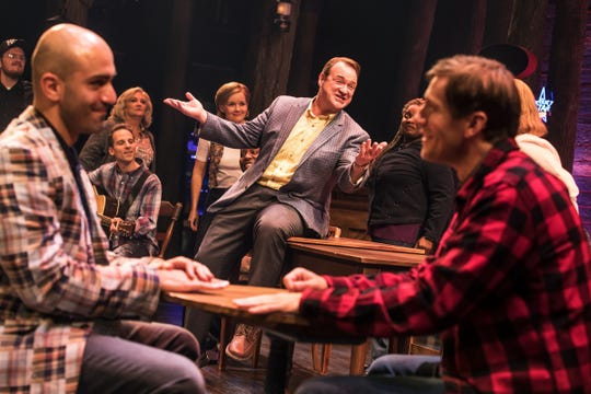 """The North American touring version of 2017 Broadway hit """"Come from Away"""" is at the Fisher Theatre through Oct. 13."""