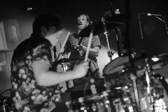 The Black Keys' Patrick Carney (on drums) and Dan Auerbach at the Wiltern Theatre in Los Angeles on Sept. 19, 2019.