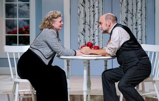 """Inga R. Wilson and John Seibert in """"A Doll's House, Part 2"""" at Tipping Point Theatre."""