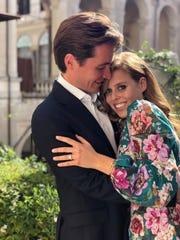 Britain's Princess Beatrice and Edoardo Mapelli Mozzi, in Italy.