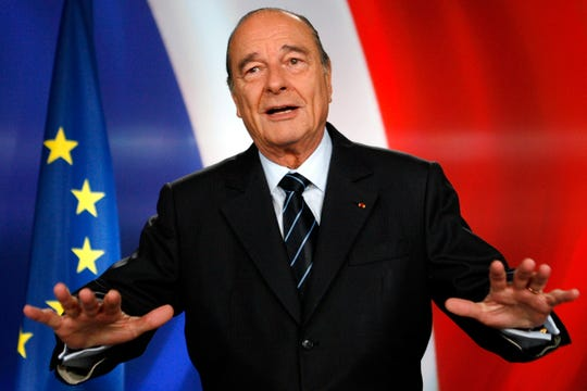 French president Jacques Chirac in 2007.