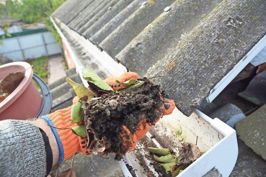Gutter cleaning gets rid of leaf and debris buildup.