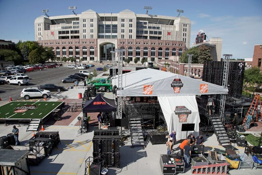 """Nebraska's NCAA college football game against No. 5 Ohio State on Saturday night was always going to be a big one. Add a visit from ESPN's """"College GameDay"""" show in the morning, and it becomes huge."""