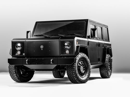 Ferndale-based Bollinger Motors introduced the B1 all-electric SUV sport utility on Thursday.