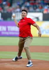 The Tigers drafted Patrick Mahomes as a high school pitcher in the 37th round of the 2014 MLB draft.