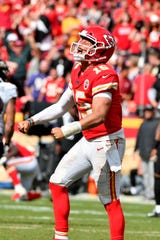 Kansas City Chiefs quarterback Patrick Mahomes already has thrown for 10 touchdowns and no interceptions through three games this season.