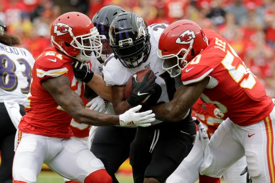 Through three games, the Chiefs are allowing opponents to rush for roughly 138 yards per game this season.