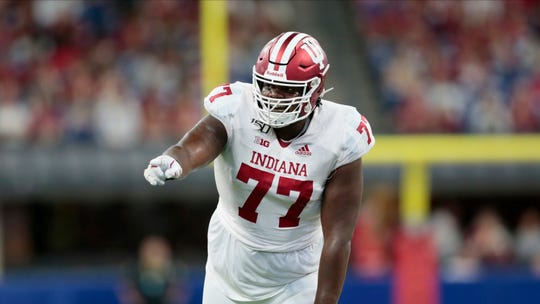A season-ending injury to left tackle Coy Cronk will put more importance on the role of offensive lineman Caleb Jones (77).