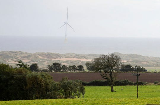 A view of the site for the proposed 'Trump Estate' in Balmedie, Aberdeenshire, Scotland. President Donald Trump's real estate company has received approval for a major housing development of 550 homes on the Menie Estate where one of his golf courses is located.