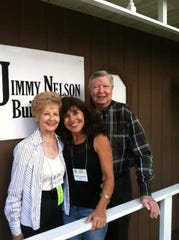 Jimmy Nelson with his wife Betty, left, and Naples ventriloquist Brenda Stelzer.