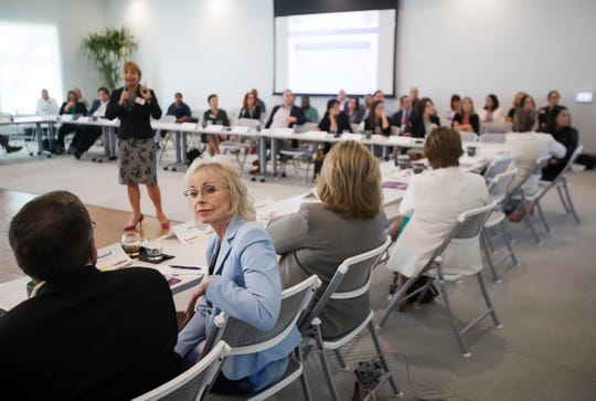 Local leaders attend the FutureMakers Coalition Annual Breakfast at the Collaboratory in Fort Myers. The Collaboratory will be a year old later this month.