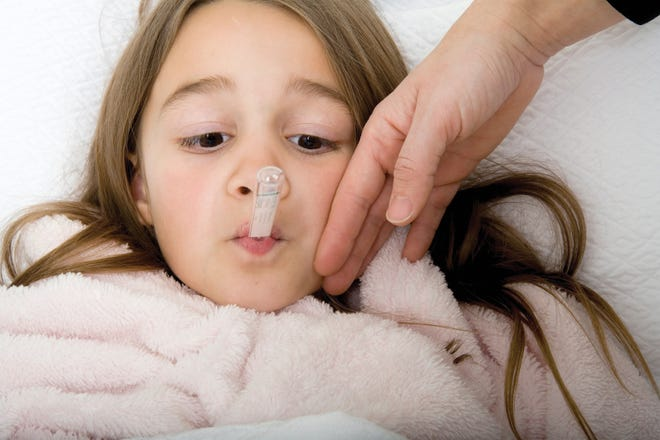 If you or someone in your family gets sick, make sure to stay home to stop the spread of the fearsome flu.