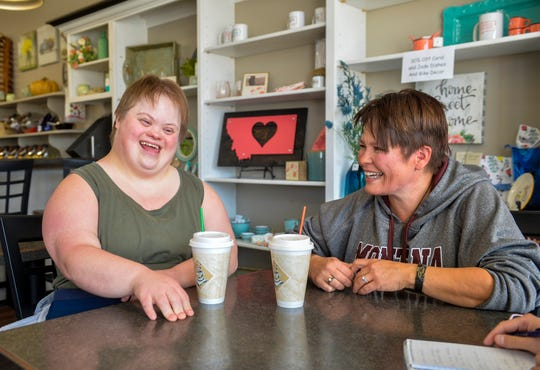 Jordan Bludworth and her mother Corinne Kanning meet with the Great Falls Tribune on Wednesday Sept. 25, 2019, at the Prairie Peddler coffee shop in Shelby.  Jordan has recently been diagnosed with Alzheimer's Disease.