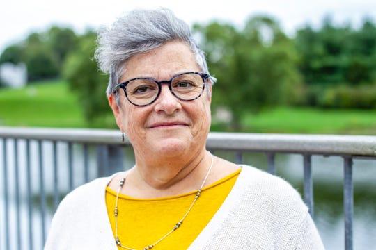 Stephanie Van Housen poses for a photo, Wednesday, Sept., 25, 2019, at Northridge Park in Coralville, Iowa.