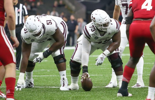 Mississippi State offensive linemen Stewart Reese (left) and Darryl Williams (right) are ready for the tough test Auburn's defensive line presents.
