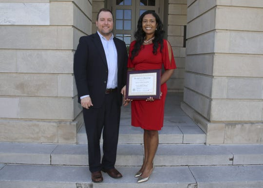 Former Mississippi Department of Transportation Public Affairs Director Jarrod Ravencraft and ex-Deputy Director Selena Standifer in an August 2016 photo while employed with the department.