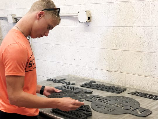 """""""To see the finished things you make in real life is a really cool thing,"""" said South-Doyle junior Mason Chandler. He is taking architectural and engineering classes, in addition to a statistics class, and next semester will be taking precalculus and AP physics. Sept 2019"""