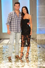 """Winner Jackson Michie and Holly Allen on the season finale of """"Big Brother"""" Wednesday night."""