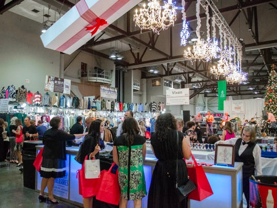 The Junior League of Lafayette hosts its annual Tinsel & Treasures holiday shopping event at the Cajundome Convention Center Wednesday, Sept. 26, 2019.