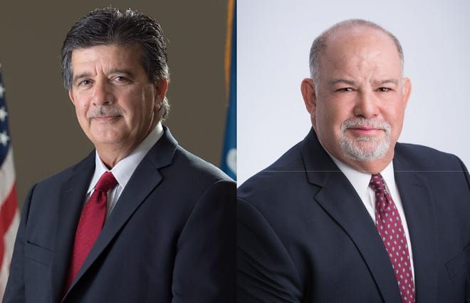 Keith Kishbaugh, left, and Bryan Tabor, right, are both running to represent District 1 on the new Lafayette Parish Council.