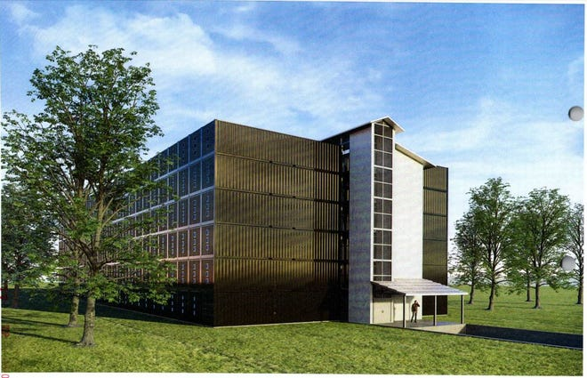 The proposed new bourbon warehouse would be part of an office and warehouse space near Jeffersontown.