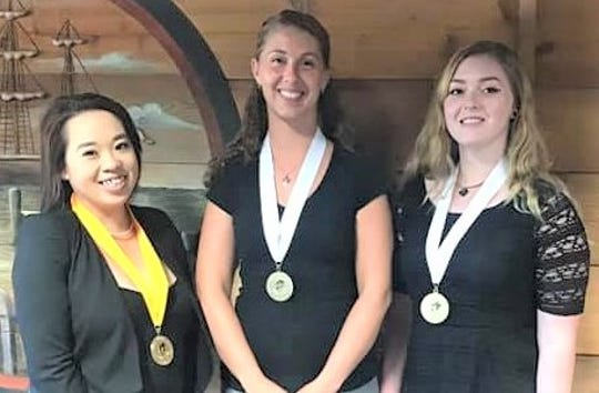 New Phi Theta Kappa officers at Lakeshore Technical College (from left): Katie Thao, Amanda Roethel and Alyssa Wenske.