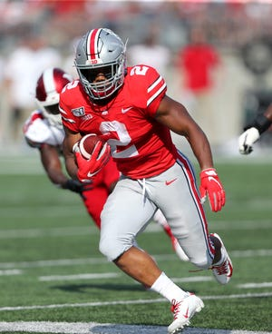 Ohio State would love to see J.K. Dobbins duplicate last year's performance against Nebraska, when he rushed for 163 yards and three touchdowns in the 36-31 victory.