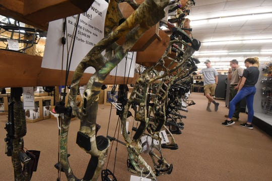 Hunters are preparing for archery season by shopping for supplies at stores like the Sportsman's Den in Shelby.