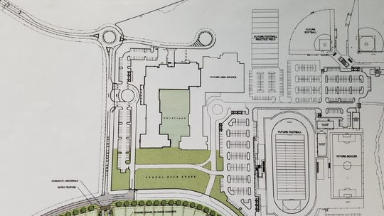 New Lakeland Preparatory High School is planned to be constructed on the existing Lakeland Preparatory Middle School campus. The school is projected to open Aug. 2022.
