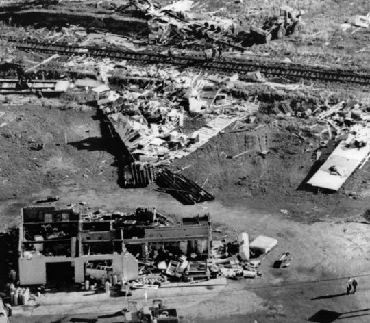 The last time a tornado that was considered and F3 or EF3 or stronger struck Wisconsin this late in the year was Sept. 28, 1971, when tornadoes struck Marinette and Oconto counties. This photo from the Journal Sentinel archives shows damage from that day's Oconto County tornado.