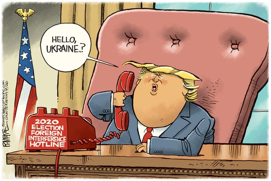 Trump calls Ukraine on hotline.