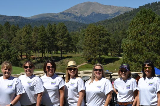 Golfers in the tournament last year sported their support on their shirts.