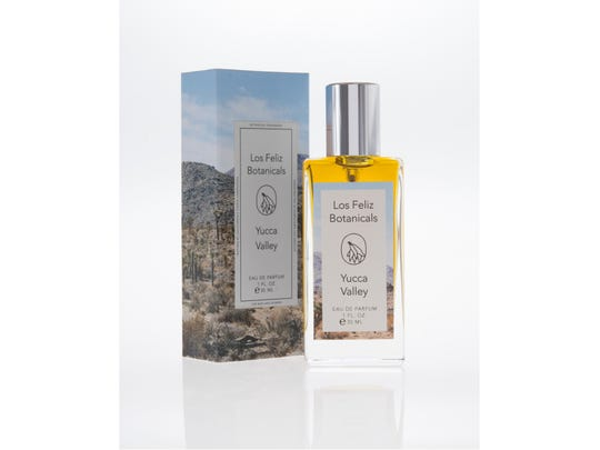 "Los Feliz Botanicals' Yucca Valley Eau de Parfum combines ""tobacco, leathery flouve and peppery roses."""