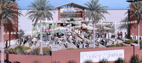 A rendering of The Post at Cooley Station, which will be anchored by a Fry's Marketplace. The shopping center is scheduled to open in summer or fall 2020.
