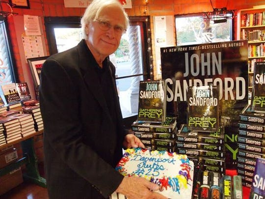 John Sandford, author of the Lucas Davenport/Prey series, had a publication party at Poisoned Pen Bookstore.